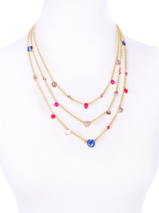 KM Simple Style Fresh Multi-layer Necklace 1