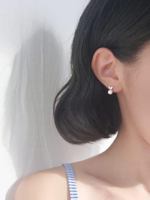 Peng Yuan Mini-heart shaped Freshwater Pearl Stud Earrings 1