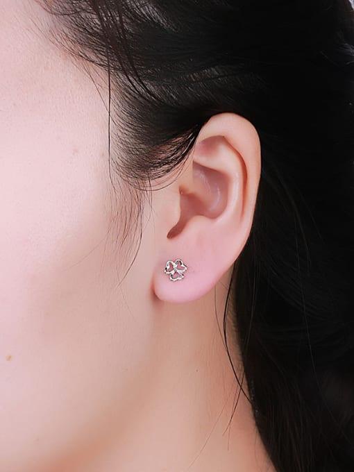 One Silver 925 Silver Flower Shaped cuff earring 1
