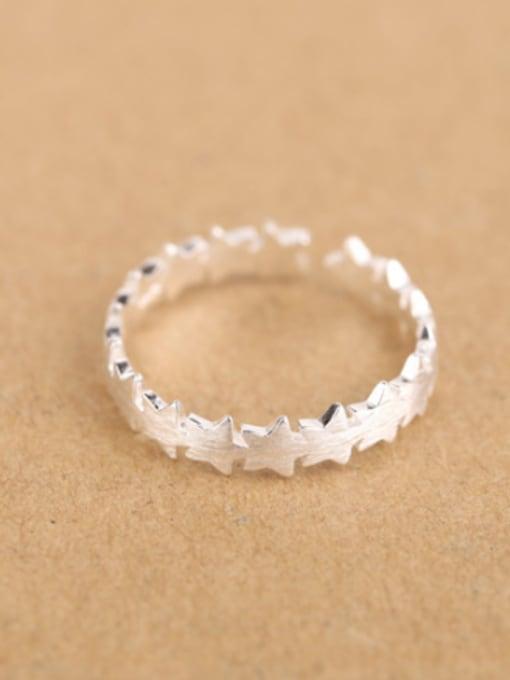 3 Simple Geometrical Silver Opening Midi Ring