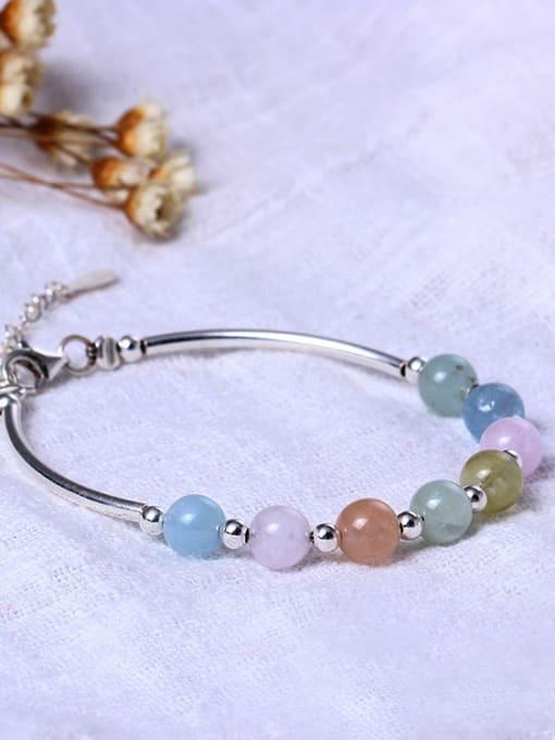 SILVER MI Sweet Natural Morgan Stone Bracelet 1