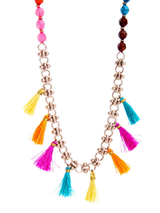 KM Long Colorful Sweater Necklace 2