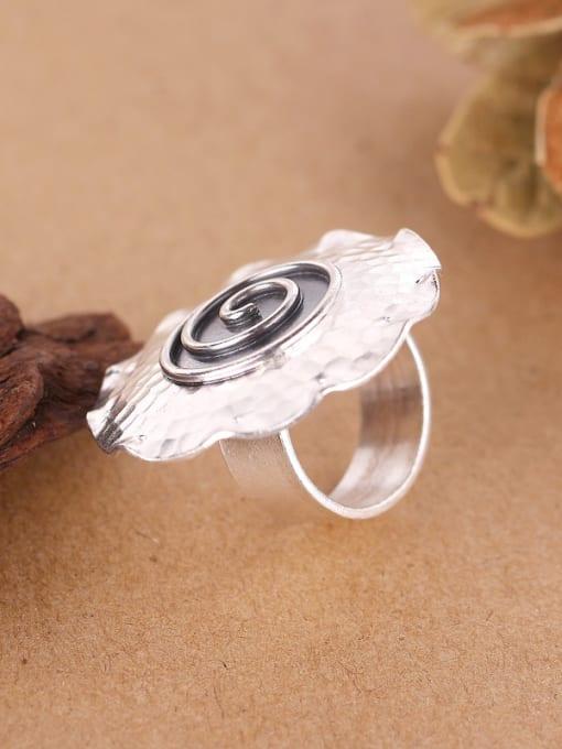 Peng Yuan Exaggerated Sterling Silver Handmade Ring 1