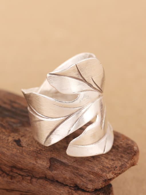 Peng Yuan Ethnic Maple Leaf Silver Ring 2