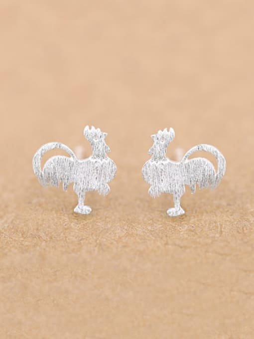 Peng Yuan Personalized Rooster Silver stud Earring 0