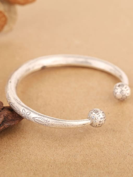 Peng Yuan Retro style Handmade Opening Bangle 2