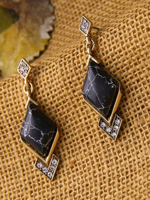 KM Geometric Stones Women drop earring 2