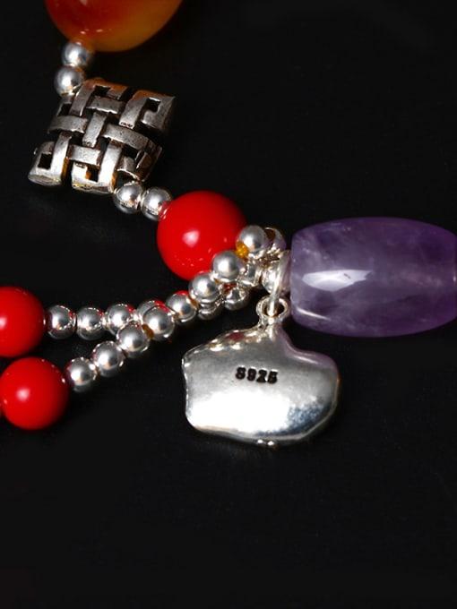 SILVER MI Colorful Festival National Tassel Bracelet 2