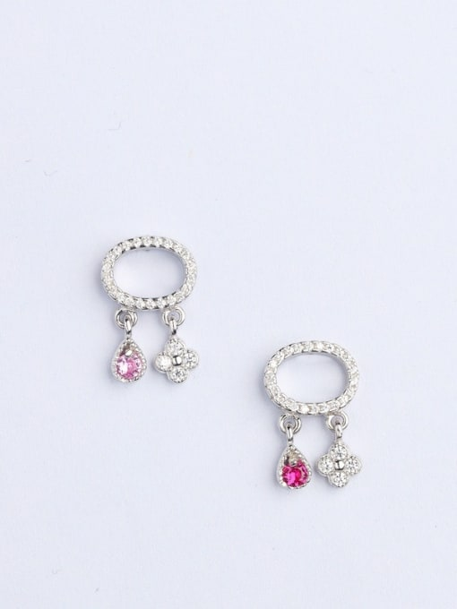 One Silver 925 Sliver Oval Shaped stud Earring