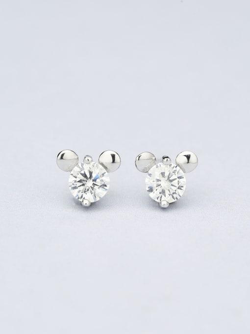 One Silver Lovely Mickey Mouse Zircon cuff earring 0