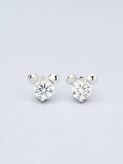One Silver Lovely Mickey Mouse Zircon cuff earring