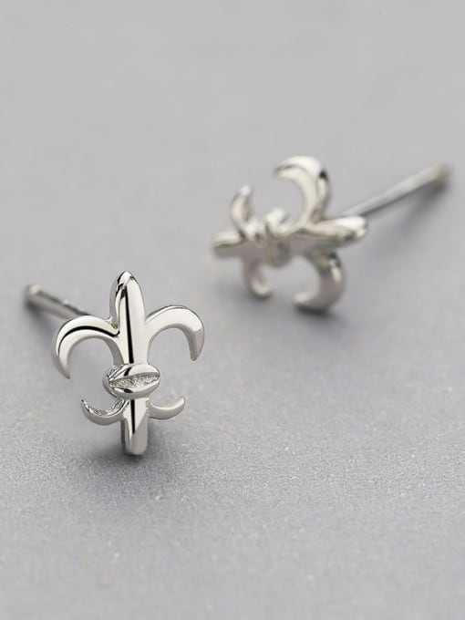 White 925 Silver Geometric Shaped cuff earring