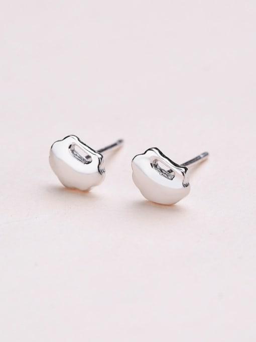 One Silver 925 Silver Cloud Shaped stud Earring 2