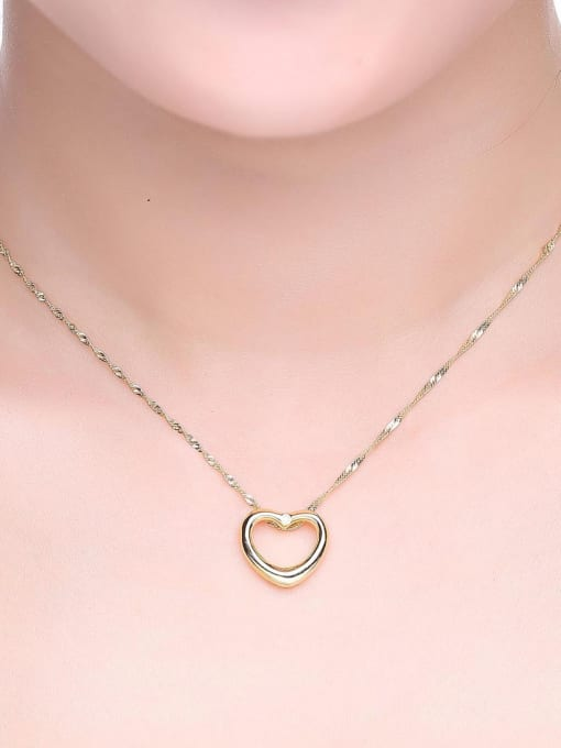 One Silver Gold Plated Heart Zircon Pendant 1