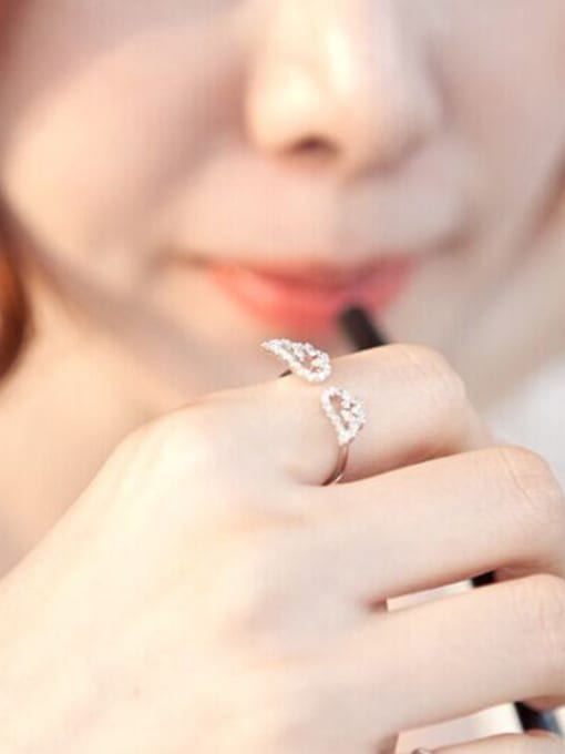 Peng Yuan Fashion Tiny Angel Swings Opening Ring 1