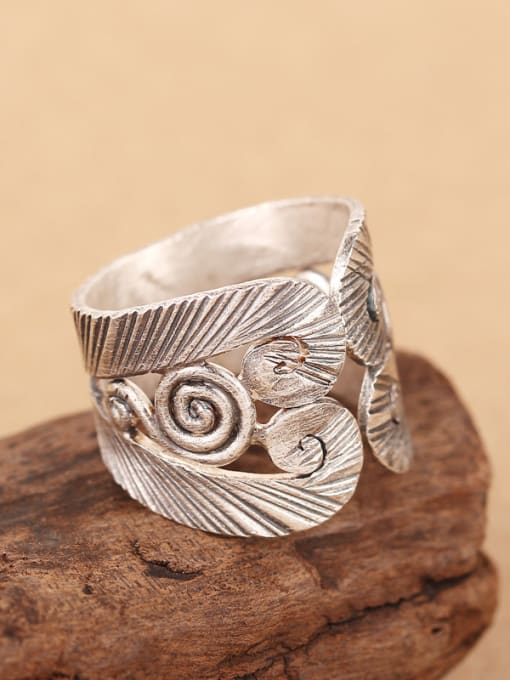 Peng Yuan Retro style Personalized Silver Ring 2