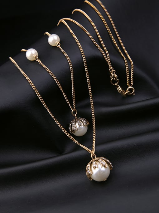 KM Double-layer Simple Style Women 's Necklace 1