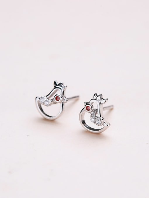 One Silver Cute Bird Shaped Stud cuff earring 3