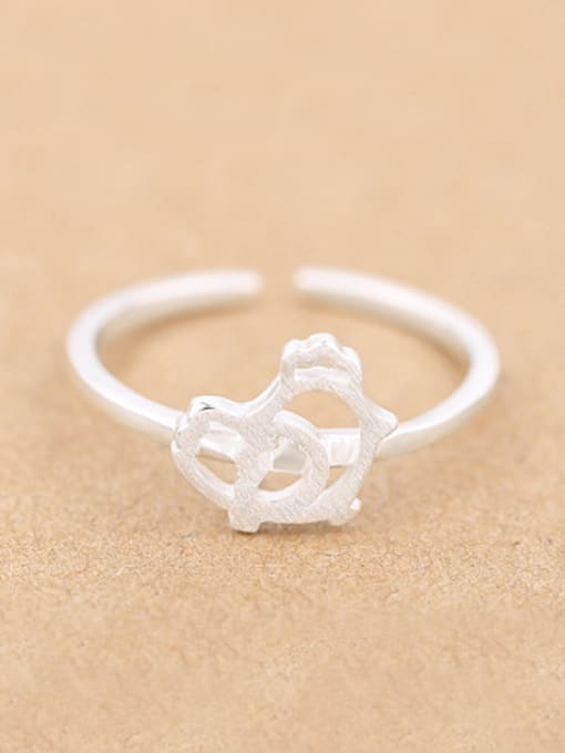 Peng Yuan Hollow Chick Silver Opening Midi Ring