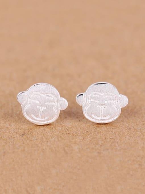 Peng Yuan Lovely Monkey Silver stud Earring 0