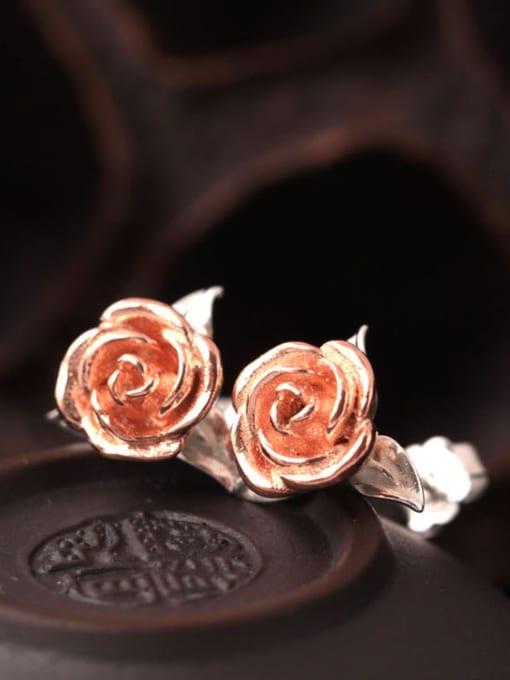 SILVER MI Personal Rose Women stud Earring 0