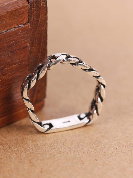 Peng Yuan Personalized Chain shaped Pentagon Midi Ring 2