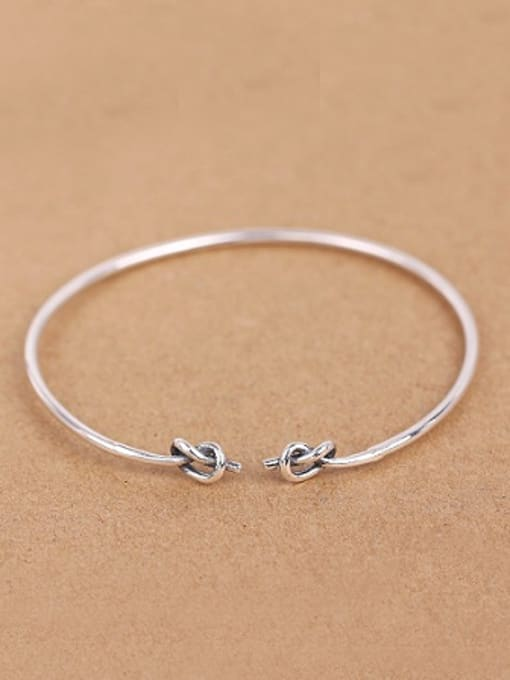Peng Yuan Retro Little Knot Opening Bangle 0
