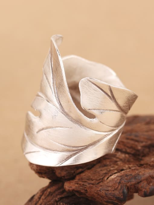 Peng Yuan Ethnic Maple Leaf Silver Ring 4
