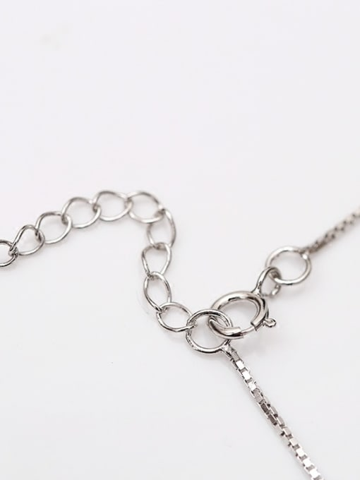 Peng Yuan Simple Hollow Bead Silver Anklet 3