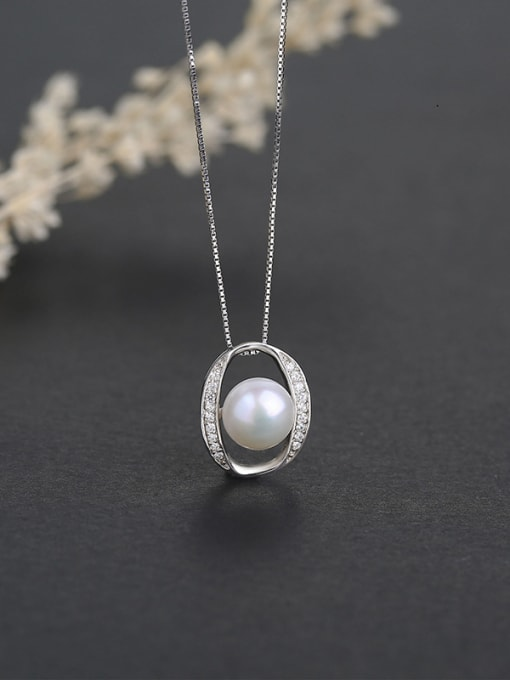 One Silver 925 Silver Freshwater Pearl Pendant 3