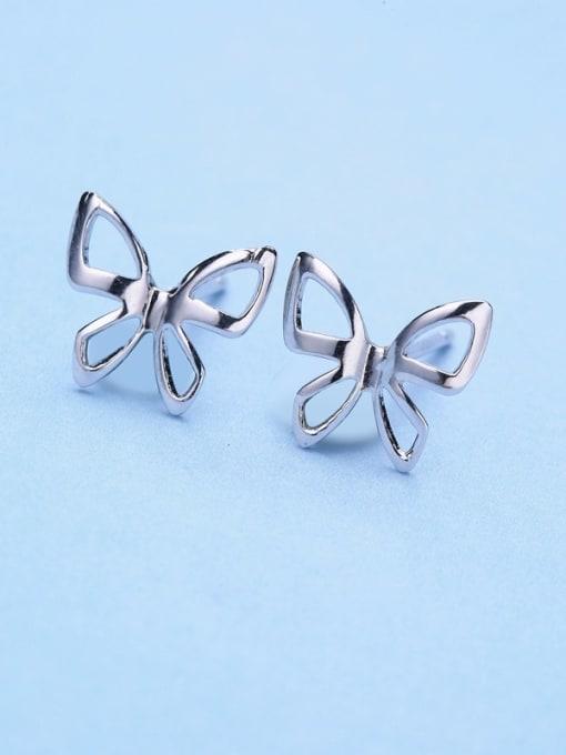One Silver Women Popular Butterfly Shaped stud Earring 2