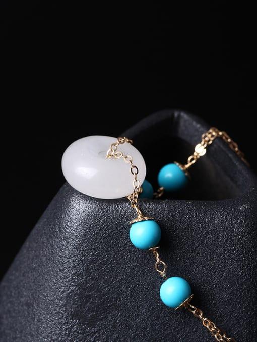 SILVER MI White Jade Fashion Women Bracelet