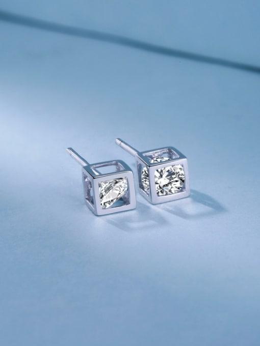 E Women 925 Silver Elegant stud Earring