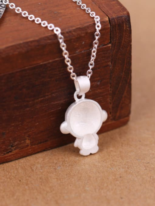 Peng Yuan Lovely Monkey Silver Women Necklace 2