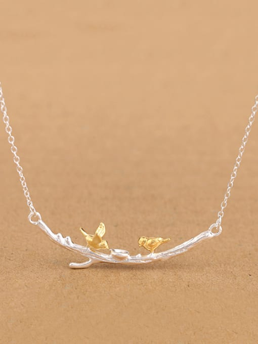 Peng Yuan Personalized Little Birds Branch Necklace 0
