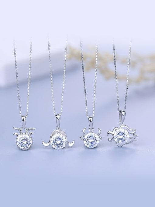 D Fashion 925 Silver Geometric Pendant
