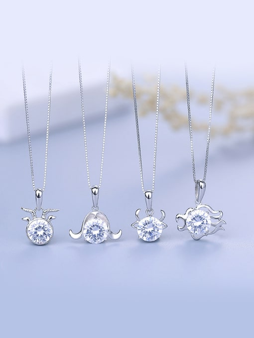 One Silver Fashion 925 Silver Geometric Pendant 4