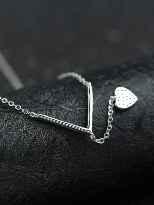 Peng Yuan Simple Heart-shaped Zircon Necklace 3