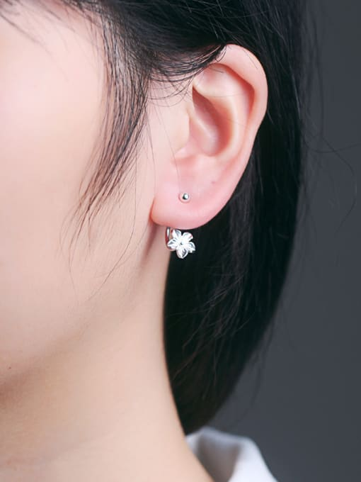 Peng Yuan 2018 Fashion Flower Silver stud Earring 1