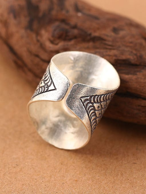 Peng Yuan Ethnic Personalized Silver Opening Ring 2