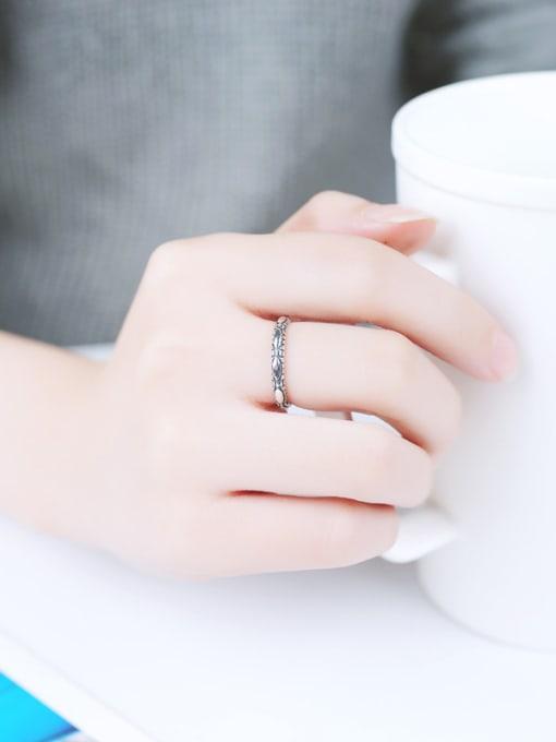 Peng Yuan 2018 Retro style Silver Opening Midi Ring 1