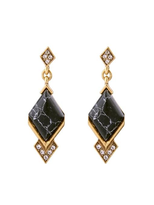 KM Geometric Stones Women drop earring