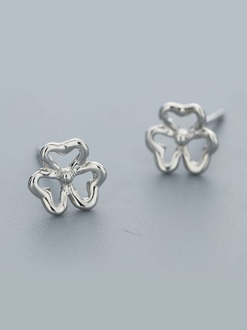 White 925 Silver Flower Shaped cuff earring