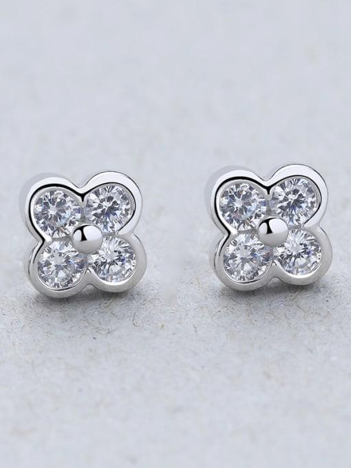 B Women 925 Silver Elegant stud Earring