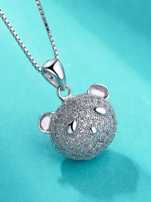 One Silver Lovely 925 Silver Bear Pendant 2