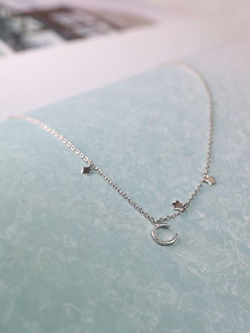Peng Yuan Simple Tiny Moon Star Necklace 2