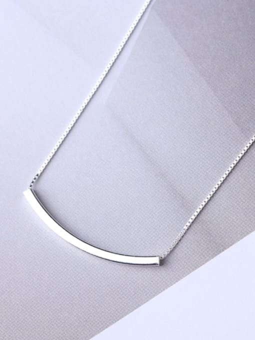 Peng Yuan Simple Refined Silver Women Necklace 0