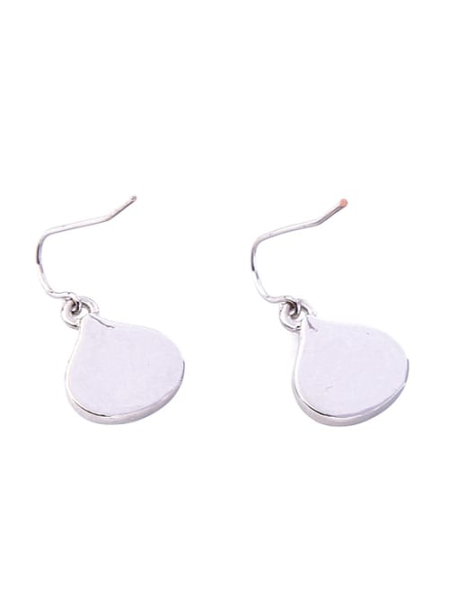 KM Platinum Plated Shining Stones Ear Hooks 1