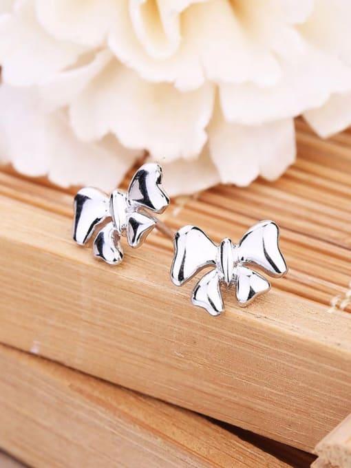 One Silver All-match Butterfly Shaped Stud Earrings