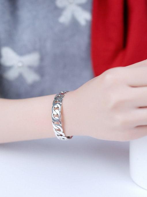 Peng Yuan Personalized Chain Opening Silver bangle 1